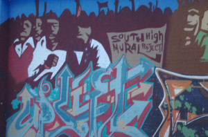 Part of the mural done by South students and volenteers located at South