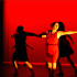 The tango-based dance was full of energy and strong red lighting.