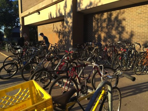 The bike racks filled up quickly!