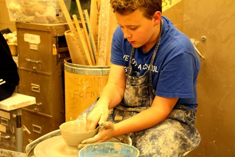 Fill a South student made bowl at Powderhorn Empty Bowls
