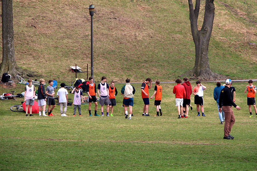 Pictured above the boys Ultimate Frisbee team practices at Powderhorn park. While many sports have gone down in numbers the participation in frisbee has surged in recent years. Photo: Livia Lund