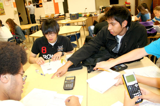 South students at a recent math team practice Mr. Winnes room.