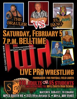Professional wrestling returns to South for second fundraiser