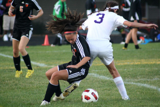 Senior Alli Shaw in a game against Southwest during Soccer Saturday. Photo Credit: Emmet Kowler