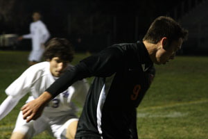 Junior Elliot Cassutt playing in Southwest High School's Super Soccer Saturday on September 24, 2011.