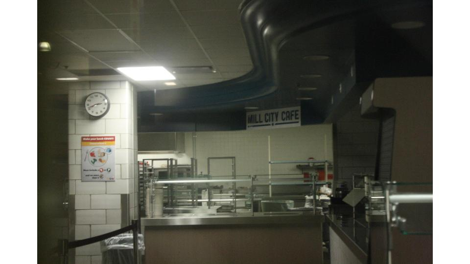 The new Lunchroom setup is designed to serve a larger variety of food in an efficient manner.