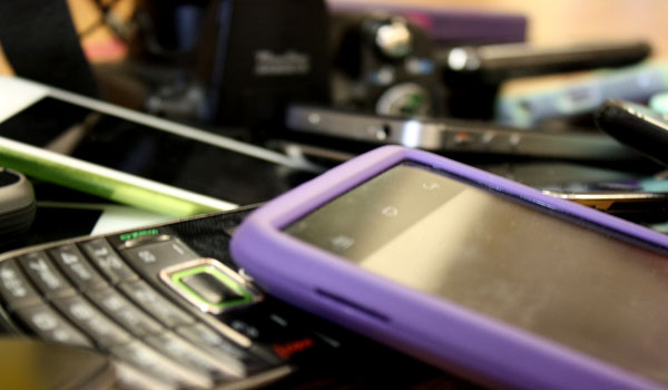 One of the reasons for increased electronics theft is students' habit of leaving phones out while in class.
