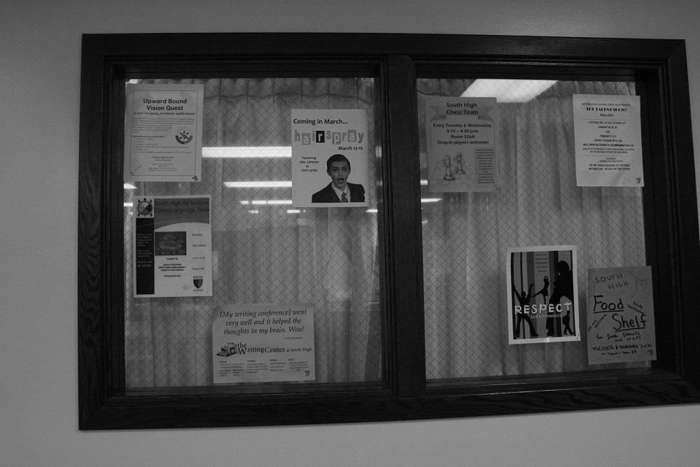 All school fliers will now be relocated to the computer lab window across from the main office.
