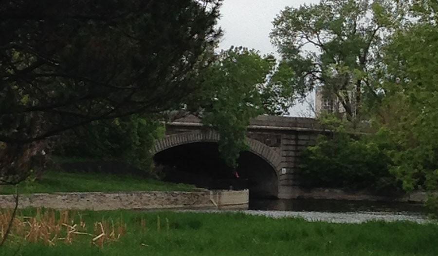 The bridge off of Lake Calhoun.