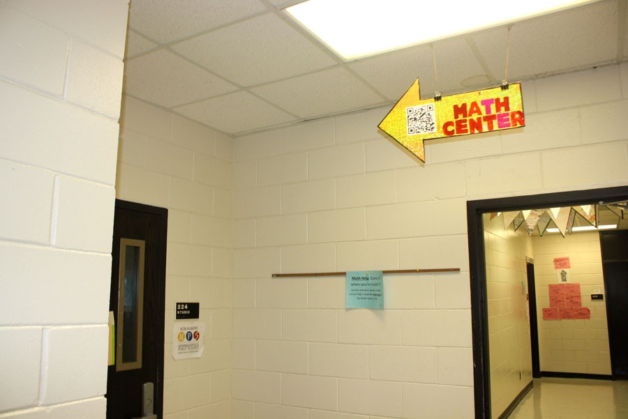 The Math Center is located on the second floor, and is a great place to get help with any of your math problems.