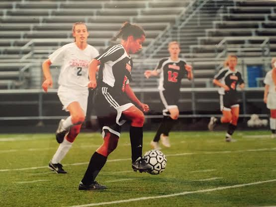 Jillian Stockmo playing soccer in 2009. Shes now breathing life into the South soccer program.