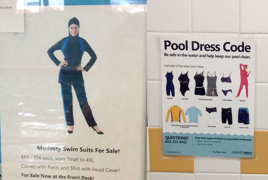 """The Midtown YWCA sells """"Modesty Swim Suits."""" Gyms around the metro have begun to offer women-only pool times to accommodate their Muslim clients, causing strong media reactions. Muslim athletes at South could benefit from a wider selection of religious-friendly athletic wear."""
