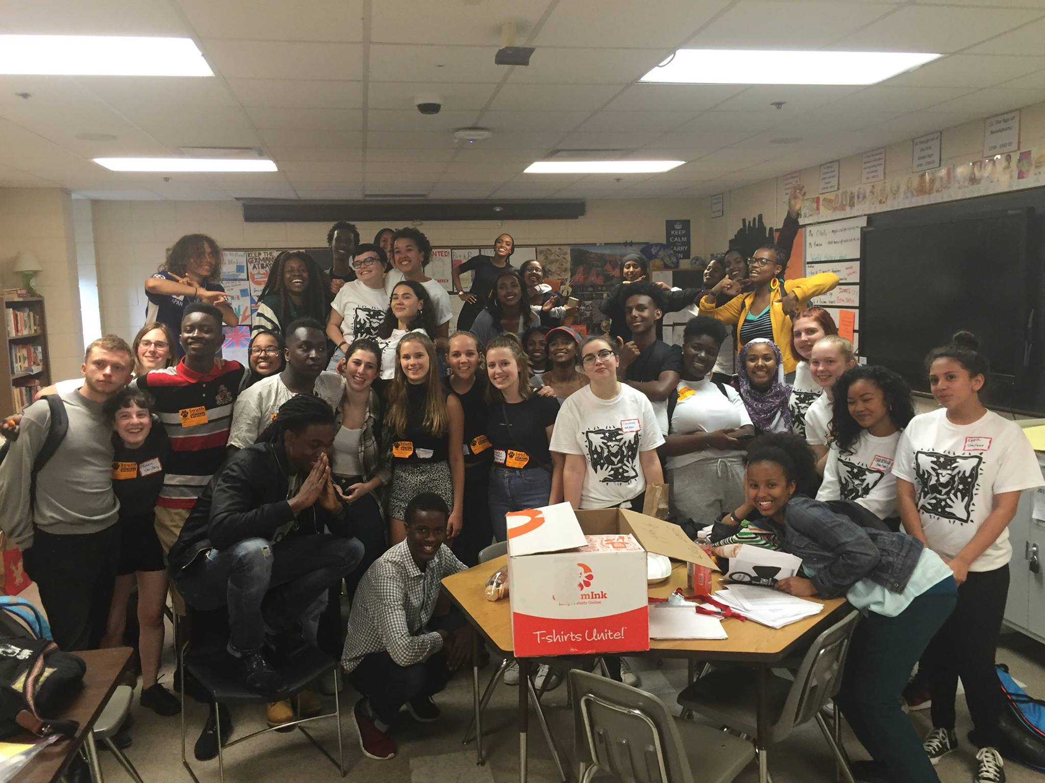 South students and staff as well as outside community members came to lead workshops on race and identity on May 23rd at South. This day was organized and led by SUSOSH (Stand Up Speak Out South High), a student led group aimed to dismantle insitutionalized racism. Photo: Abby Rombalski