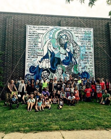 The mural at JJ Hill Montessori Elementary, courtesy of Good Space Murals.