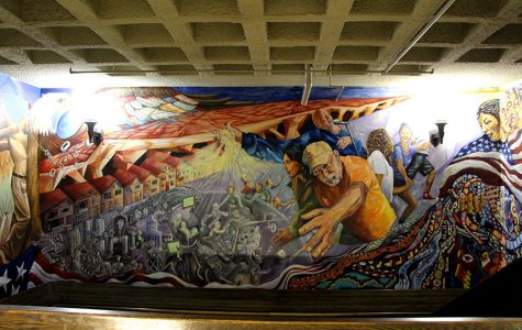 Abukhadra and McClain worked on South High's Social Justice mural during the 2012-13 school year.
