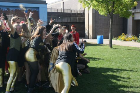 Green, blue, red, black and gold: South students continue to sport their class colors despite administration name change