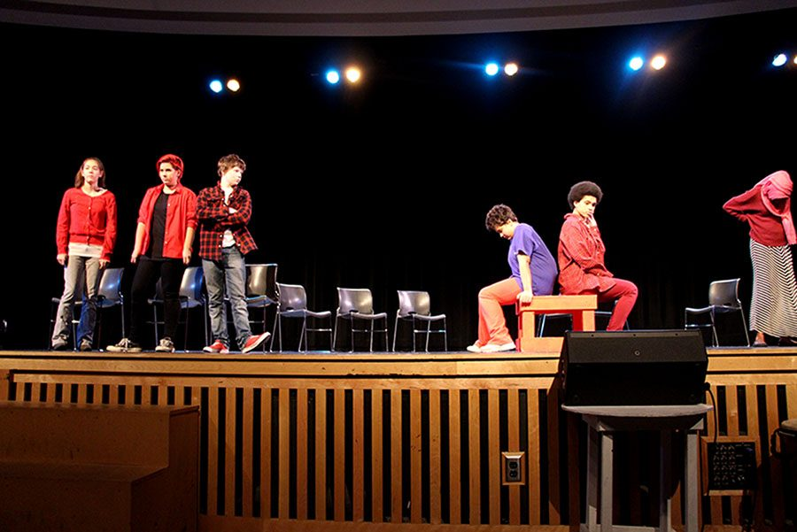 The play, directed by Keno Evol a local artist and activist, featured student and student-written poetry in the performance titled