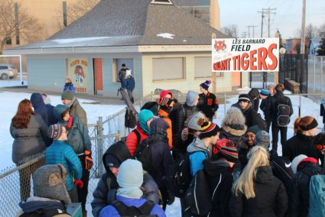 Banard Field occupation in cold temps shows community dedication