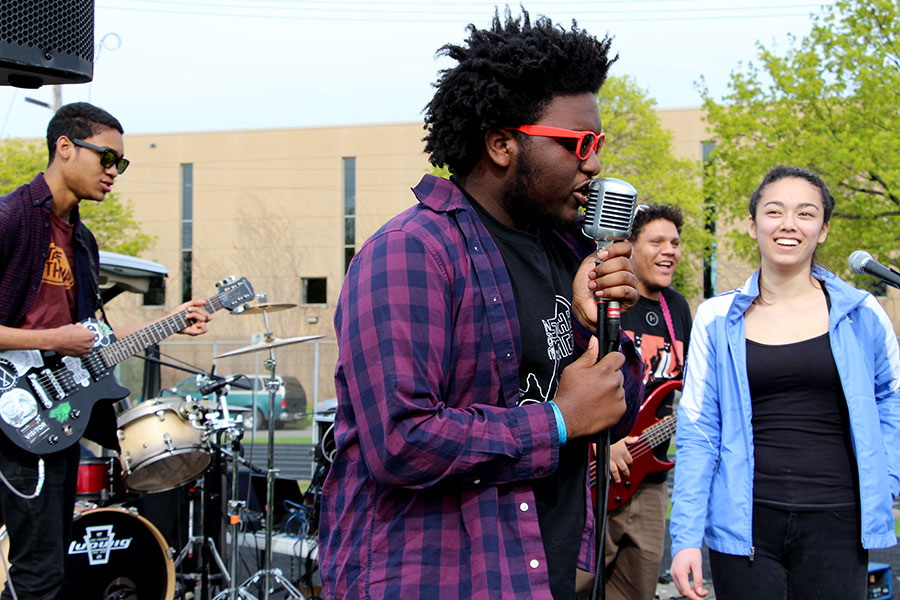 Antoine Ferguson, singer for the Nightstones, rocked the battle of the bands at South last Saturday.
