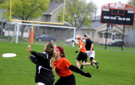 Pictured above Ultimate Frisbee captain, Emma Krasky, plays a tough game against Forest Lake. Krasky is one of several South Frisbee players who signed an open letter which outlined their complaints about sexism in sports, and offered solutions. Photo: Tannen Holt
