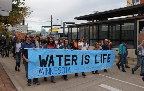 On Thursday September 28th, several students joined hundreds of Minnesotans to protest the proposed Line 3 pipeline. Many protestors argue that this pipeline will threaten Minnesota's clean water.