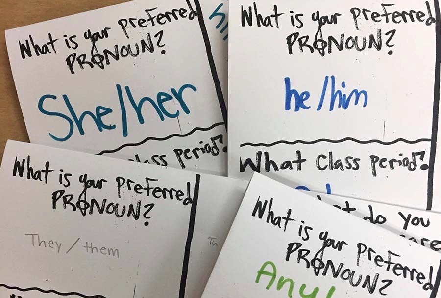 One of the ways many teachers strive to create safe spaces is by asking students to share their pronouns at the beginning of the year. It is important to use proper pronouns to ensure that each student's gender identity can be acknowledged and respected. However, more needs to be done at South to create spaces that students truly feel comfortable and safe in.