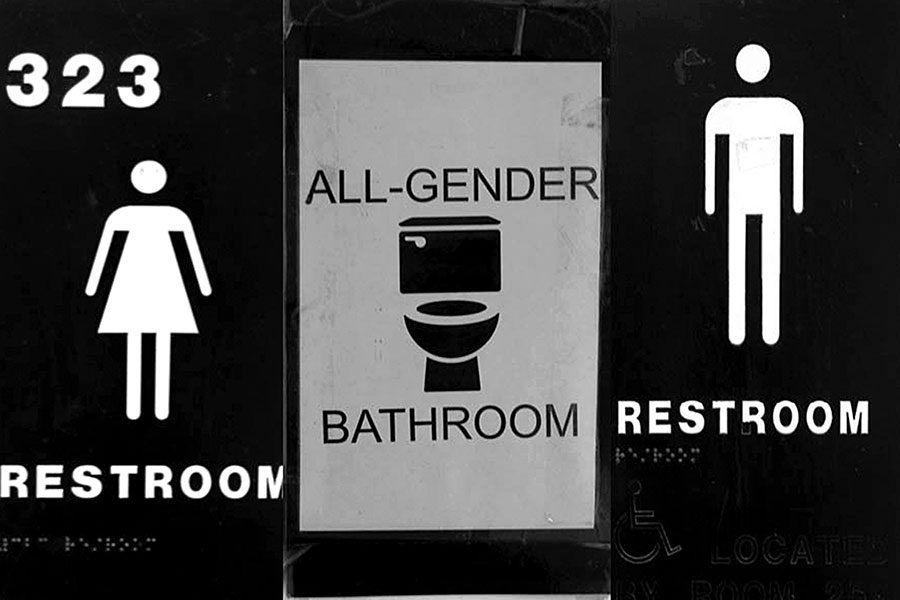 Pictured+above+is+an+illustration+of+a+locked+gender+neutral+bathroom+door+and+open+male+and+female+bathroom+doors.+The+locking+of+the+gender+neutral+bathroom+is+especially+impactful+to+some+trans+and+nonbinary+students+because+for+some+of+them+it%27s+the+only+bathroom+they+feel+comfortable+using.+Sophomore+M.+Malo+said+access+to+the+bathroom+is+so+necessary%2C+%E2%80%9Cbecause+there+are+a+lot+of+people+who+are+questioning+their+gender%2C+and+it%E2%80%99s+nice+for+them+to+have+this+space+where+they%E2%80%99re+not+going+to+be+judged+for+going+into+there+because+anyone+can+go+in+there.%E2%80%9D+