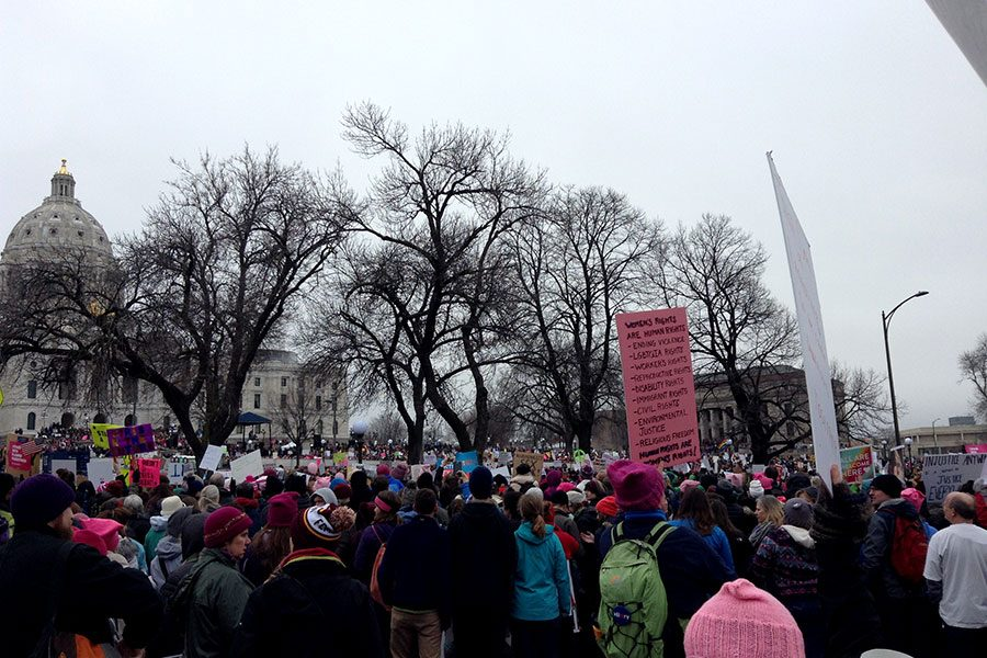 Just+over+a+year+ago+millions+of+people+joined+the+Women%E2%80%99s+March+to+protest+Trump%E2%80%99s+presidency+and+his+comments+about+women.+Although+it+was+wonderful+to+see+so+many+people+turning+out+to+protest+President+Trump%2C+much+of+the+feminism+at+the+march+wasn%E2%80%99t+intersectional.+Intersectionality+is+a+crucial+part+of+understanding+the+experiences+women+go+through.+%E2%80%9CIt%27s+important+for+people+to+feel+like+they+have+a+place+in+a+movement+regardless+of+sexual+orientation%2C+gender%2C+class%2C+race+%5Betc.%5D%2C%E2%80%9D+said+junior+Natashia+Otiso.%0A