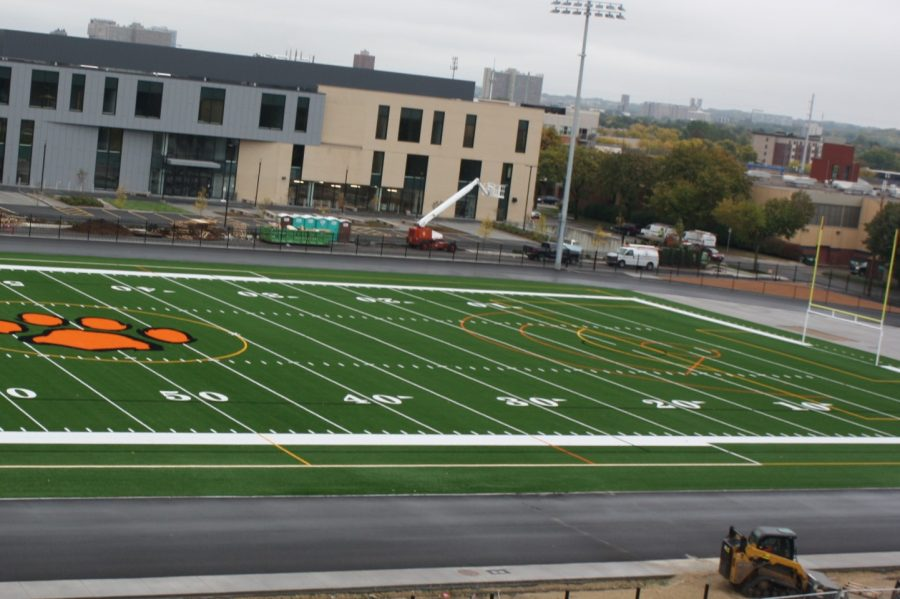 Barnard Field is undergoing major redesigns, it now features South High's tiger paw logo in its center and several changes are being made to improve the track and the field itself will now use turf. These are some of the things we can look forward to for when the field is open again later in the school year.
