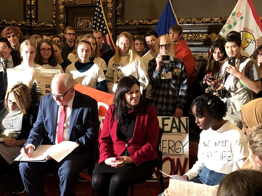South+sophomore+Isra+Hirsi+making+a+plea+to+Minnesota%27s+new+Governor+Tim+Walz+to+take+action+on+climate+change.+Hirsi+is+part+of+a+youth-led+group+working+for+climate+justice+called+%22MN+Can%27t+Wait%2C%22+and+was+one+of+over+100+youth+that+met+with+Walz+last+Wednesday.+