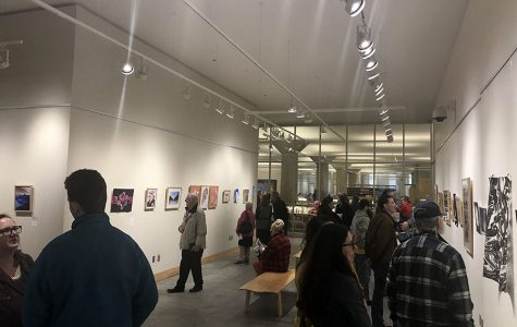 March 21, was opening night of the gallery showing the art of high school students from all of Minneapolis Public Schools. The showcase is part of the MPS district wide Viva City Fine Arts Festival and is open to the public in The Minneapolis Central Library, Cargill Hall through April 29th. Eight South students were featured in the show getting the chance to experience being in a professional gallery.