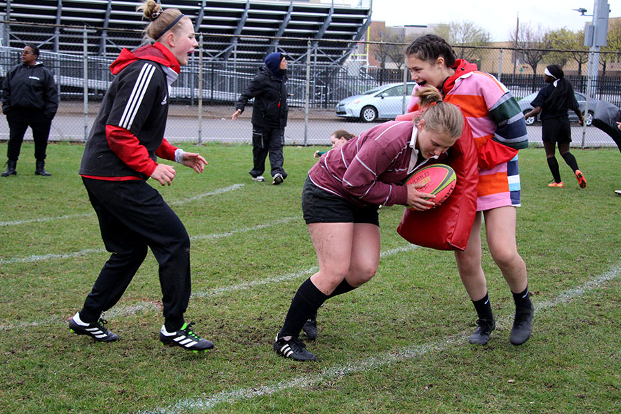 """The Southside Sabers is a rugby club in the South community that provides an inclusive sports team open to anyone interested. """"It's just a really supportive community and anyone who has ever felt out of place in other sports should definitely give it a shot no matter who you are,"""" said Senior Aria Wanek."""