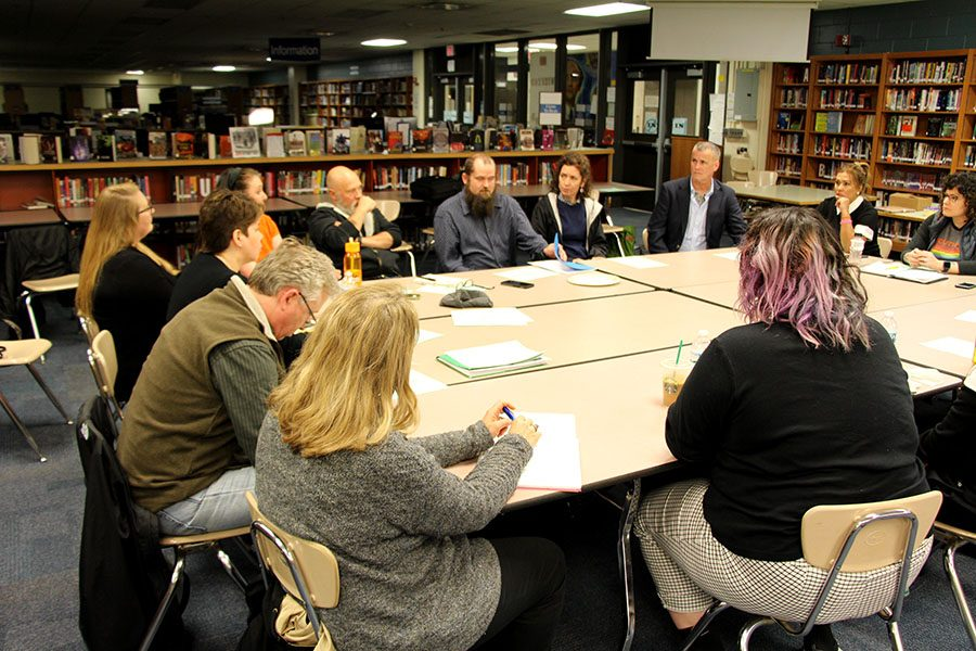 "The Site Council meets on May 8 in the media center to continue the process of selecting South's next principal. ""The people in this room own the process,"" said Leah Auckenthaler, a parent involved in the principal search."