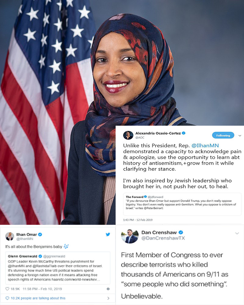 Ilhan Omar has been under fire for some of her past comments from both sides of the political spectrum. In a tweet, she wrote,