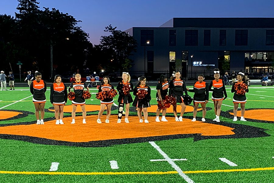 Go Tigers! Cheerleading team increases in numbers this year due to funding and publicity