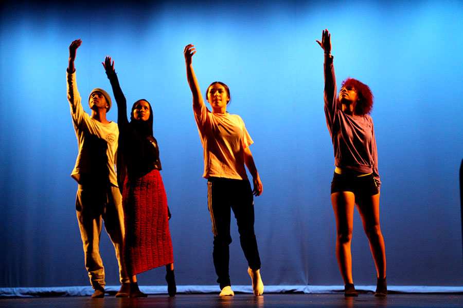 Company+1+Dancers+Rahma+Ahmed%2C+Britney+Birch%2C+Tae+N.%2C+and+Emmalise+DeBlieck+perform+the+dance+%22Stories+of+Education%22+at+the+Fall+Dance+Performance+on+November+13+and+14%2C+2019.+%22Our+project+began+with+each+dancer+choosing+a+social+issue+that+they+deeply+cared+about+and+had+some+experience+with+in+their+life.+Dancers+partnered+with+other+dancers+who+shared+a+connected+topic%2C+eventually+dancers+formed+small+groups+and+began+to+create+their+masterpieces+of+choreography+on+their+social+issues...Finding+others+to+create+art+around+their+issue+allowed+them+to+have+a+sense+of+safety+and+empowerment%2C+supporting+each+other+in+the+process+of+speaking+out%2C%22+said+dance+teacher+Nancy+Nair+in+the+program+for+the+event.