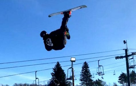Students who participate in freestyle skiing and snowboarding often share clips and images of themselves doing tricks to their social media. This creates a larger sense of community in which students can go to find support and praise. Jae Walters spends a lot of time freestyle skiing at Afton, where his tricks have greatly improved through the years.