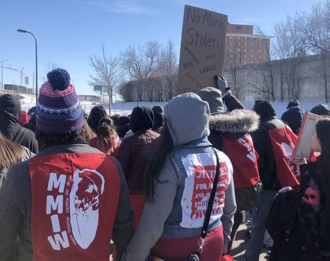 Attendees of the march created red shirts, banners, etc. to bring light to the crisis and wore them to the march. Red is a symbol of the MMIW Movement.