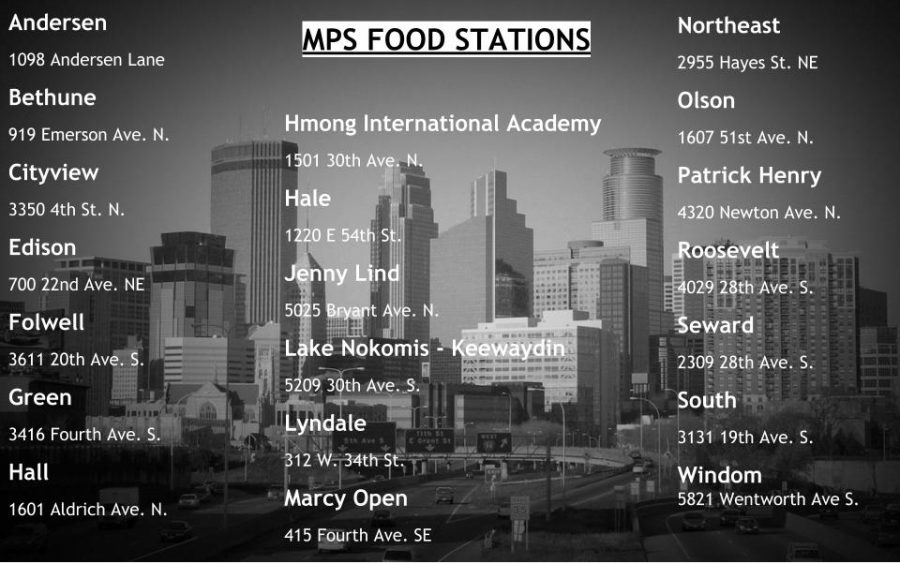 For+students+who+rely+on+school+for+healthy+and+nutritious+meals%2C+there+are+about+20+schools+throughout+the+city+functioning+as+food+stations+where+meals+can+be+picked+up.+Starting+Tuesday+March+16+through+March+27+these+schools+will+be+open+from+10am+to+2pm+for+students+who+are+in+need.