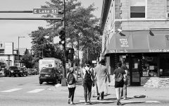 During the summer of 2020 and the start of Lake Street Project, the primary focus was workshops on Lake Street. Students walked around the area taking photos and having moments of discussion about how protesting and covid had impacted the community. Photo Courtesy of Lake Street Project.