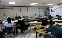Souths Esports team practices in advisor Rob Panning-Millers room.  More high schoolers than ever are picking up their headsets. Matches can be done anytime, anywhere, and with practically any sort of game. Who knows- it may even be the future of sports.